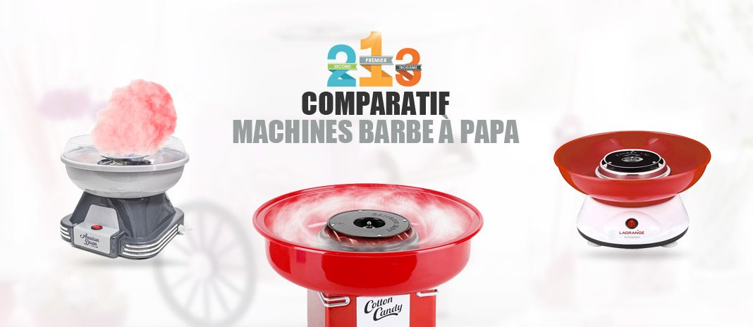 comparatif machines barbe à papa