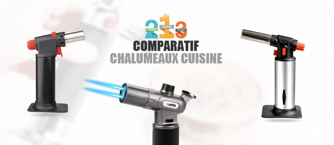 Cadrim Cuisine Chalumeau 1300 ° C double réglable flamme rechargeable butane chefs